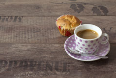 A cup of offee and muffin Stock Image