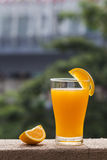 A cup of orange juice Stock Photography