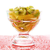 Cup with orange, kiwi and lime Royalty Free Stock Photo