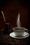 Cup of oriental coffee Stock Image