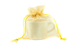 Cup packed in gift Royalty Free Stock Photos