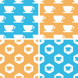 Cup pattern set, colored Royalty Free Stock Photos