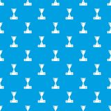 Cup pattern vector seamless blue. Repeat for any use Stock Images