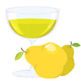 Cup with pear lemonade Royalty Free Stock Photo