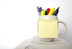 A cup of pens Royalty Free Stock Photos