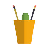 Cup with pencils Stock Photography