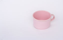 Cup. Pink plastic coffee cup white background Royalty Free Stock Photo