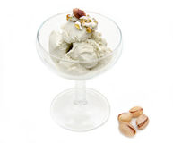 Cup with pistachio ice cream Stock Photography