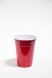 cup plastikową czerwień Obraz Stock