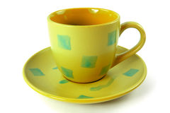 Cup with plate Royalty Free Stock Photo