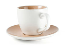 Cup with plate Stock Image