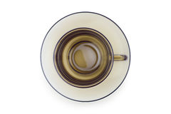 Cup on plate isolated Royalty Free Stock Photos