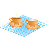 Cup and plate Royalty Free Stock Photo