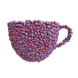 Cup of plums Stock Images