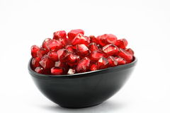 Cup of Pomegranates,juicy,vitamin,fresh,dessert Stock Image