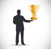 Cup presentation or celebration illustration Royalty Free Stock Photo