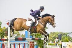Cup primera Equestrian Show Jumping Imagen de archivo libre de regalías