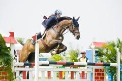Cup primera Equestrian Show Jumping Fotos de archivo libres de regalías