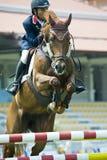 Cup primera Equestrian Show Jumping Imagen de archivo