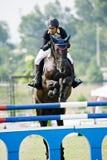 Cup primera Equestrian Show Jumping Foto de archivo