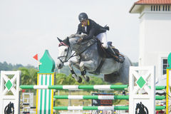 Cup primera Show Jumping Equestrian Fotografía de archivo libre de regalías