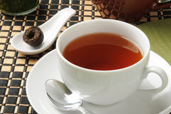 Cup of pu-erh tea Royalty Free Stock Photo