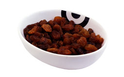 Cup of raisins Royalty Free Stock Image