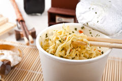 Cup of ramen noodles Royalty Free Stock Photos