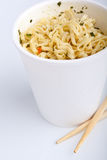 Cup of ramen noodles Stock Images