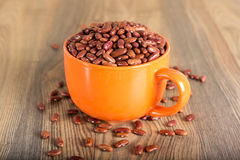 Cup with red beans Stock Images