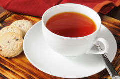 Red tea and shortbread cookies Royalty Free Stock Images