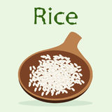 A cup of rice to cook for the detox menu Royalty Free Stock Photography