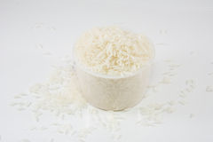Cup rice. With white background Royalty Free Stock Photos