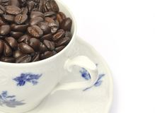Cup of roasted coffee beans Royalty Free Stock Photo