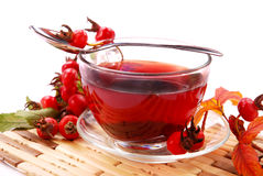 Cup of rosehip tea Stock Photo