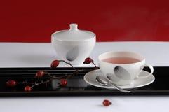 Cup of rosehip tea, close-up Stock Photography