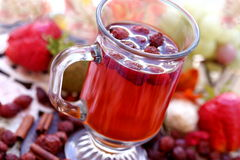 Cup of rosehips tea Stock Photo