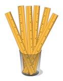 cup rulers wooden Стоковые Фотографии RF