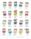 Cup's emotions Royalty Free Stock Photos