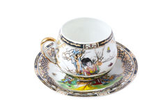 Cup and saucer. Coffee cup and saucer from the Japanese porcelain Royalty Free Stock Photos