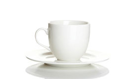 Cup with a saucer. On a white background Stock Images