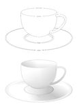 Cup with a saucer Royalty Free Stock Image