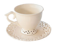Cup and Saucer. Isolated with path Royalty Free Stock Photography