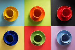 Cup and saucer at abstract Royalty Free Stock Photo