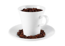 Cup and saucer and coffee Royalty Free Stock Photos