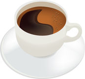 Cup with saucer containing coffee Royalty Free Stock Photo