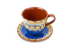 Cup and saucer, isolated Stock Photo