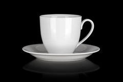 Cup and saucer isolated Royalty Free Stock Photography