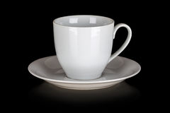 Cup and saucer isolated Royalty Free Stock Photo
