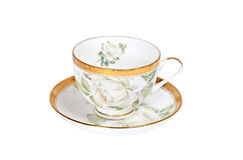 Cup and saucer isolated on white background Royalty Free Stock Photo
